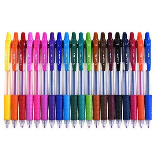Retractable Gel Pens, Smart Color Art 20 Colors Medium Point Gel Ink...