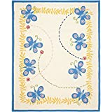 Cheap Safavieh Kids Collection SFK390A Handmade Ivory and Blue Cotton Area Rug (8′ x 10′)