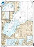 NOAA Chart 14863: Saginaw Bay; Port Austin Harbor; Caseville Harbor 34.7 x 47.2 (WATERPROOF) offers