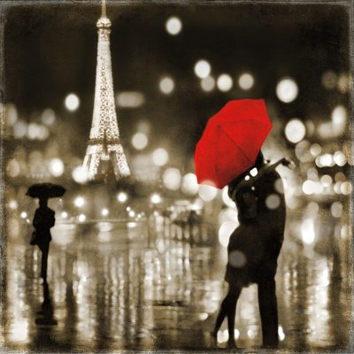 A Paris Kiss Poster Print by Kate Carrigan (28 x 28) by Poster