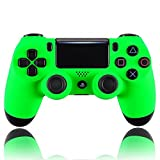 eXtremeRate Neon Green Soft Touch Grip Front Housing Shell Faceplate for Playstation 4 PS4 Slim PS4 Pro Controller (JDM-040) For Sale