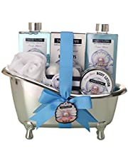 Spa Gift Basket for women,Bath & Body gift sets for her,Luxurious 10 Piece,Includes Bubble Bath, Bath Fizzer,Lotion and More, Best Gift for Mother's Day, Birthday, Christmas.