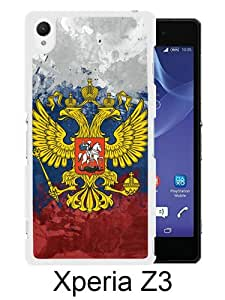 Vintage Russia Flag White Unique Abstract Custom Sony Xperia Z3 Case