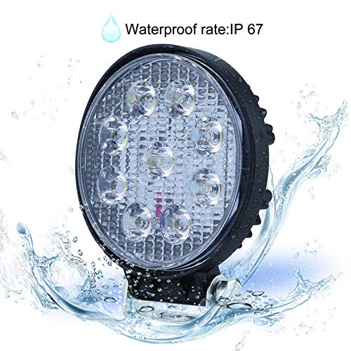 27W Faisceau dInondation LED Ampoules Phare De Projecteur Phare Lampe De Travail Lampe De Barre Ronde Portable pour Bateau Camion Tracteur Voitures Hors Route
