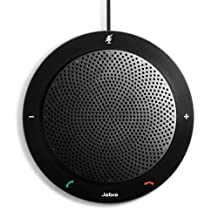 Jabra SPEAK410 USB Speakerphone for Skype, Lync and other VoIP calls - Retail Packaging - Black