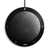 Jabra Speak 410 Corded Speakerphone for Softphones – Easy Setup, Portable USB Speaker for Holding Meetings Anywhere with Outstanding Sound Quality