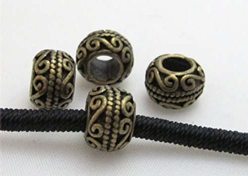 Design Bali Bead - 4 Beads-Bali design Brass donut drum shape beads - BD412