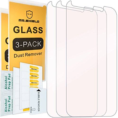 [3-PACK]-Mr Shield For ZTE Prestige 2 [Tempered Glass] Screen Protector with Lifetime Replacement Warranty