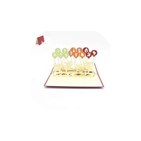 Amazon.com: Tarjetas de felicitación de feliz cumpleaños 3D ...