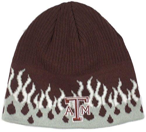 (NCAA Officially Licensed Texas A&M Aggies Flame Design Cuffless Beanie Hat)