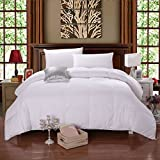 Quilted n' Cozy Luxury Down Comforter, Hypoallergenic Down Fill, 100% Cotton Cover - King