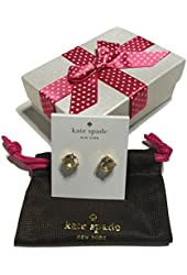 Kate Spade New York Clear Stud Earrings with Bagity Gift Box