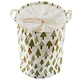 Foldable Laundry Hamper Basket Sealable for organizing baby clothes,toys (Green Tree) offers