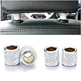 Car Headrest Collars,Car Head Rest Collars Rings Decor Bling Bling Crystal Diamond Ice for Car SUV Truck Interior Decoration Blings-4 Pack White
