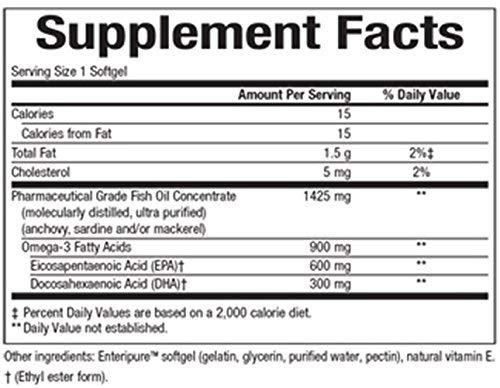 Ultra RXOmega-3 900 mg EPA/DHA Natural Factors 150 Softgels (2 Pack)