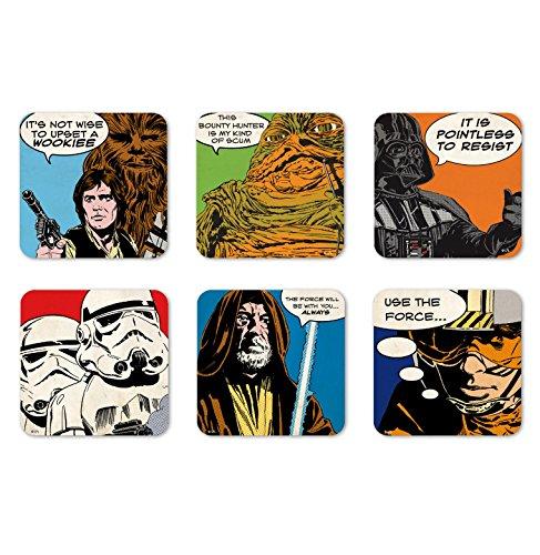 Compra Logoshirt Film - Star Wars - Comic - Juego de Posavasos de ...