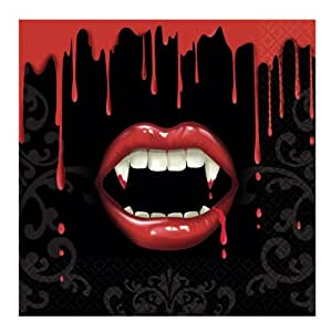 Fangtastic Halloween Beverage Napkins Party Accessory