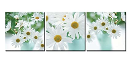 Merveilleux Canvas Print Wall Art Painting For Home Decor Floral Still Life Of White  African Daisy Flower