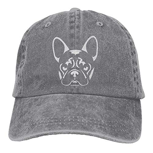 French Bulldog Cap - KWISISI French Bulldog Unisex Embroidered Cowboy Hat Unstructured Dad Hat