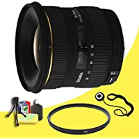 Sigma 10-20mm f/4-5.6 EX DC Lens for Minolta and Sony Digital SLR Cameras + 77mm UV Filter + Lens Cap Keeper + Deluxe Starter Kit  DavisMAX Bundle
