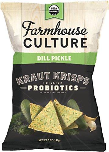 Farmhouse Culture Kraut Krisps Snack, Dill Pickle