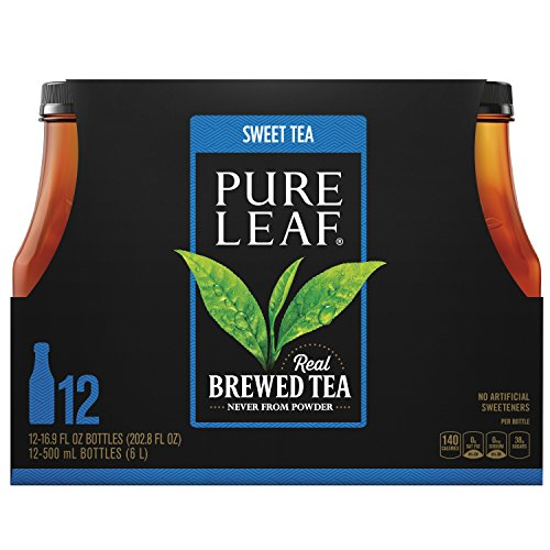 Pure Leaf Iced Tea, Sweet Tea, Real Brewed Black Tea, 16.9 Ounce Bottles, 12 Count by Pure Leaf