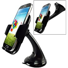 XENDA Premium Compact Car Mount Swivel Dashboard Dock Windshield Holder Cradle for iPhone 5S, iPhone 5C, 5, 6, 5G, 4S, 4 (AT&T, T-Mobile, Alltel, Boost, Virgin Mobile, Sprint, Verizon, Net10, Straight Talk, Cricket, US Cellular, Unlocked)