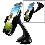 XENDA Premium Compact Car Mount Swivel Dashboard Dock Windshield Holder Cradle for Sony Xperia Z1 Z2 Z1S Z3 - LG G Flex - LG Optimus F7 / F6 / L9 / L90 / L70, Exceed 2, Optimus G Pro / Lite, Blackberry Z10, Z30, Q10, Q5 Bold 9900 9930