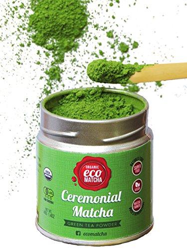 Matcha Tee - Ceremonial Grade 40g - USDA & JAS Zertifizierte Bio Matcha Grüner Tee Puder - Hergestellt in Kyoto JAPAN Hergestellt von Eco Heed