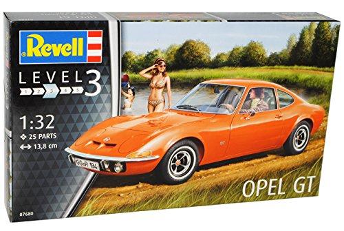 Opel GT 1900 Coupe Rot Orange 1968-1973 07680 Bausatz Kit 1/32 Revell Modell Auto