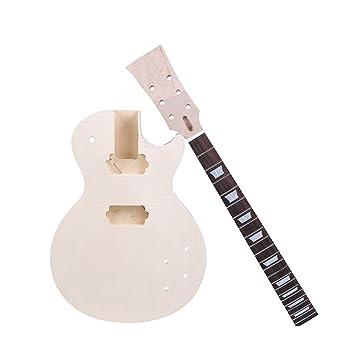 Andoer® Estilo LP Guitarra Eléctrica DIY kit Cuerpo de Caoba