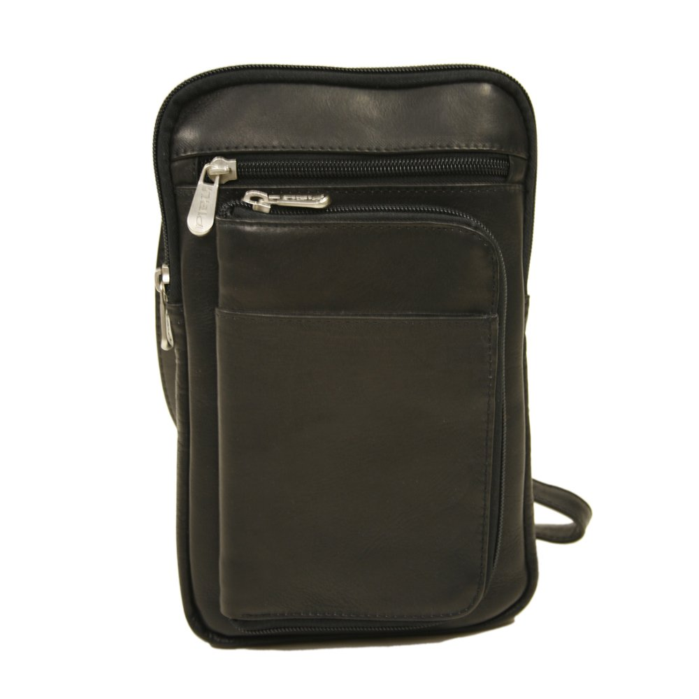 Piel Leather Hanging Travel Organizer, Black, One Size
