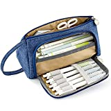 Large Capacity Pencil Pen Case Bag Pouch,Durable School Student Pen Holder Organizer Stationery