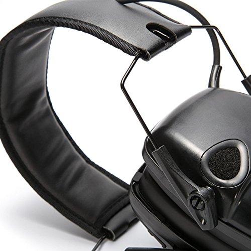 Auriculares electr/ónicos plegables para deporte tiro caza Crewell Tactical