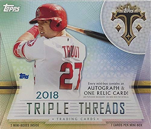 2018 Topps Triple Threads Baseball Hobby Box (2 Packs/7 Cards: 1 Auto, 1 Relic) from Triple Threads