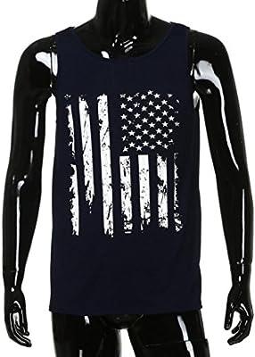 LILICAT Camisas Deportivas para Hombres, Chaleco sin Mangas Blanco USA Flag Gimnasio Día de la Independencia sin Mangas Ropa de Moda Deporte Hombre Entrenamiento Gimnasio Correr, Yoga Camisetas: Amazon.es: Deportes y aire