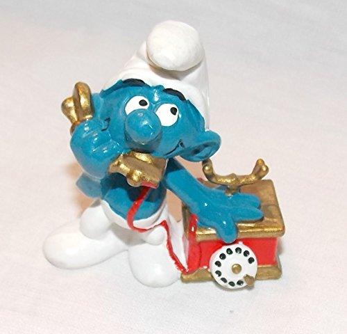 (1980 Vintage Smurf on Telephone 2
