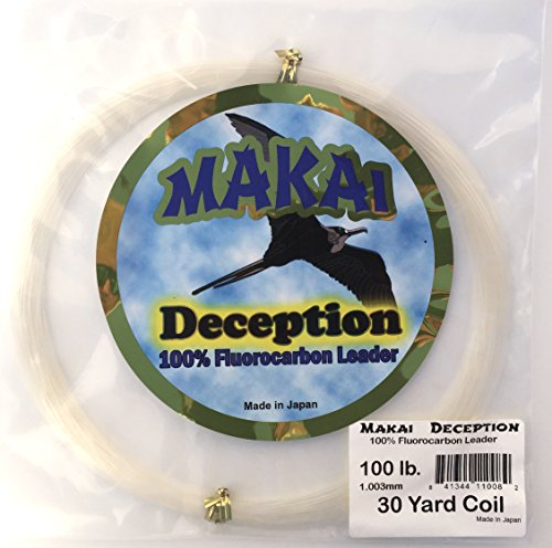 Makai Deception 100% Fluorocarbon Leader Coil 30 Yards (200 lb. - 1.54mm) - Fluorocarbon Leader Coil