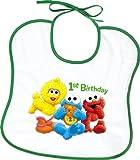 : Sesame Street 1st Birthday Bibs, 2ct