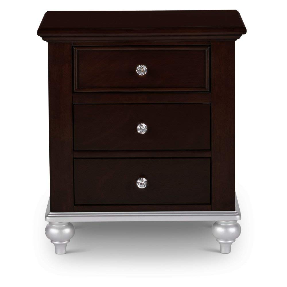 Picket House Furnishings Alli 3 Drawer Nightstand in Walnut by Picket House Furnishings