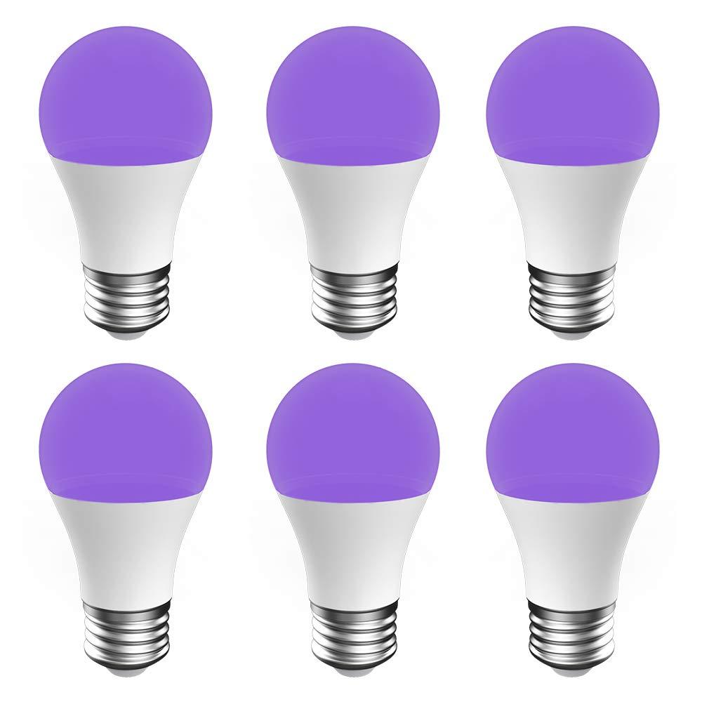 Glow in The Dark Ultra Violet Neon Fluorescent Party Lights LED Ultraviolet Blacklight UV Bulb 7W Pack of 2 kwmobile Black Light Bulbs E27