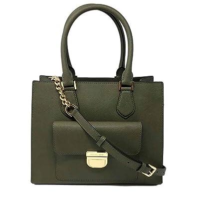 b335f1586e2964 Amazon.com: Michael Kors Bridgette Olive Saffiano Leather Medium Tote Bag:  Shoes