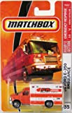 Matchbox Emergency Response Orange 08 Ford E-350 Ambulance 1:64 Scale