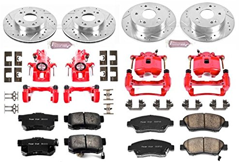 Power Stop KC2387 1-Click Performance Brake Kit with Caliper, Front & Rear