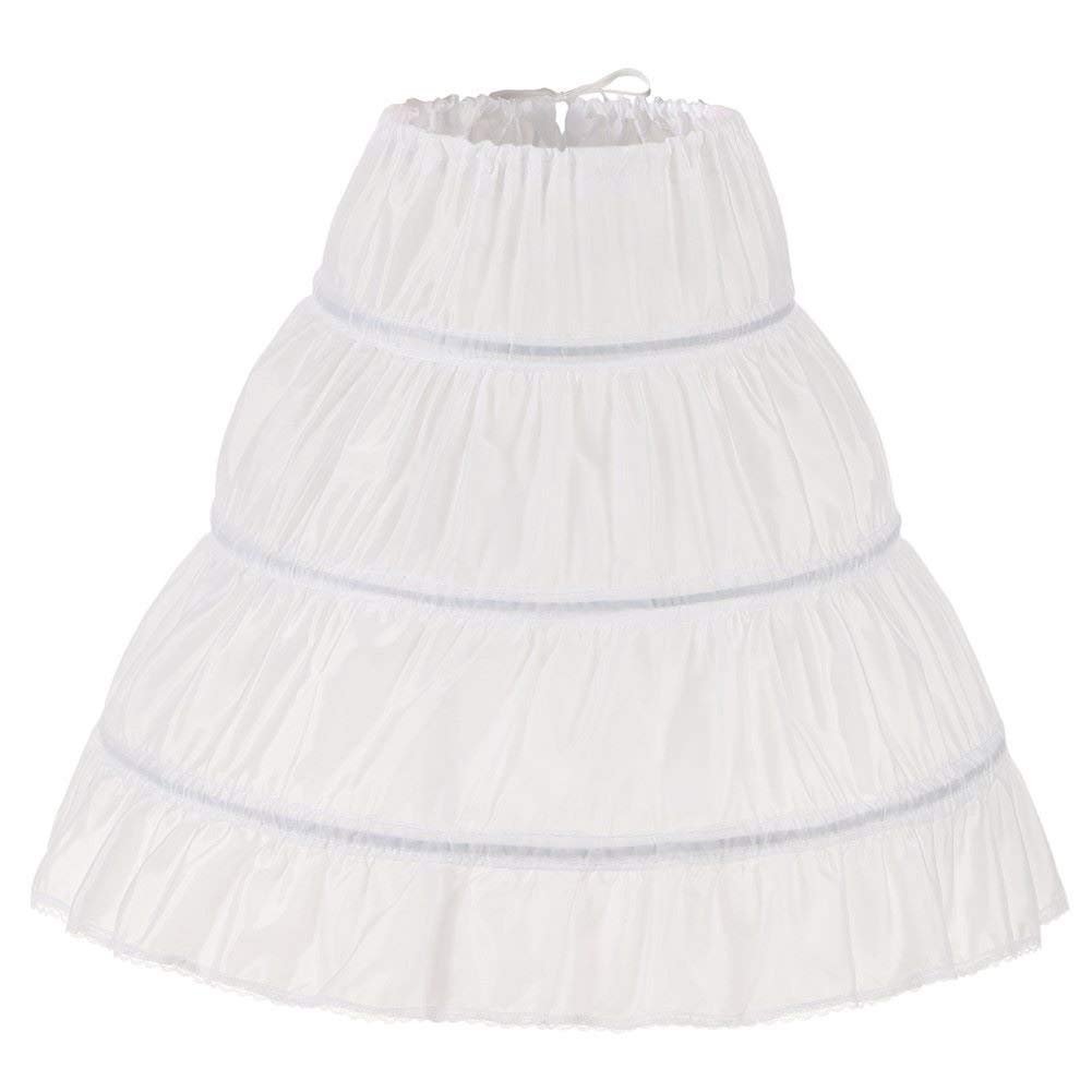 XinLe Girls 3 Hoops Petticoat Underskirt Flower Girl Wedding Crinoline Skirt Slip Length 55cm//65cm//75cm//85cm