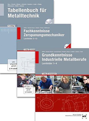 Paketangebot Der Zerspanungsmechaniker: Lernfelder 1-13 + Tabellenbuch (Braun Handwerk)
