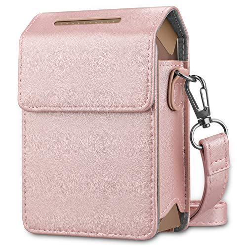 - Fintie Protective Case for Fujifilm Instax Share SP-2 Smart Phone Printer - Premium Vegan Leather Bag Cover with Removable Shoulder Strap, Rose Gold