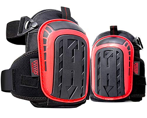 VViViD Heavy-Duty Precision Balance Double Strapped Cushioned Knee Pads, 1 Pair