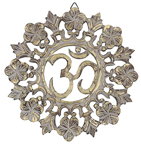 Handcrafted Wooden Om Wall Decor
