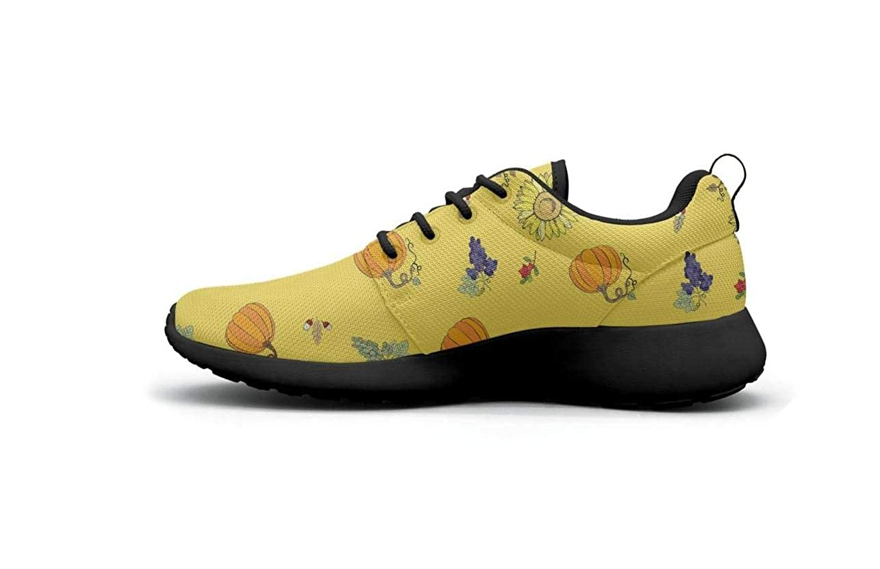 Comfort Women Lightweight Shoes Yellow Kansas Mexican Sunflower Floral Loafers Trail Running Quick Dry